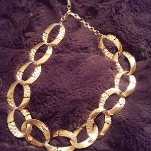 VINTAGE GOLD INTERLOCKING CHOKER
